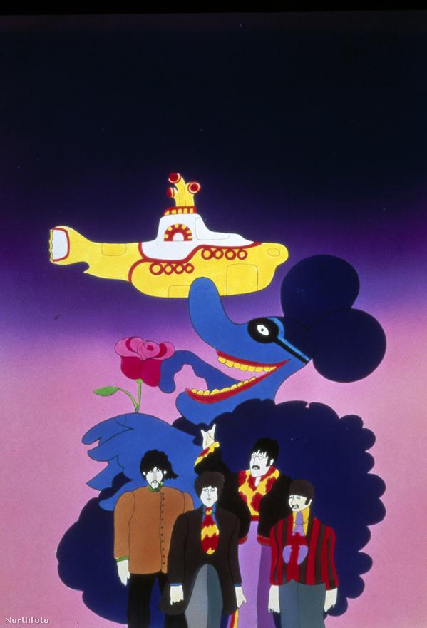 A Yellow Submarine-hez tartozó grafika 1968-ból. A pszichedelikus rajzfilmhez is készült album, de sokak szerint ez a Beatles legrosszabb zenei munkája, így inkább csak az animációk kísérőjeként fogják fel. Az ugyanilyen című dal amúgy az 1966-os Revolver lemezen jelent meg, és azon kevés Beatles-szerzemények egyike, amit Ringo Starr énekel.