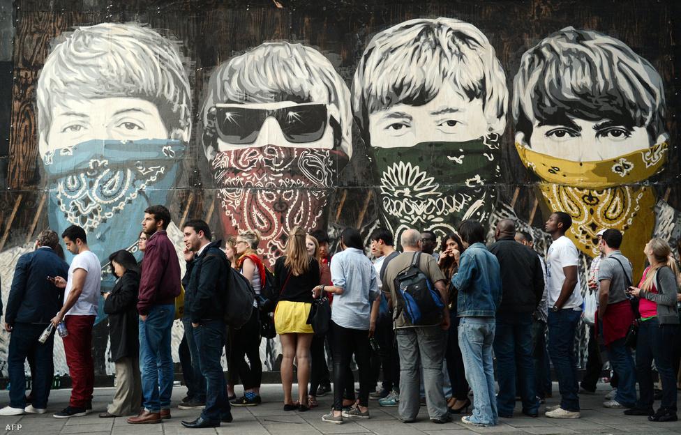 A Beatles máig tartó hatással bírt a popkultúrára, itt például Mr Brainwash (Thierry Guetta) falfestménye látható Londonban, az Old Sorting Office oldalán napjainkban.