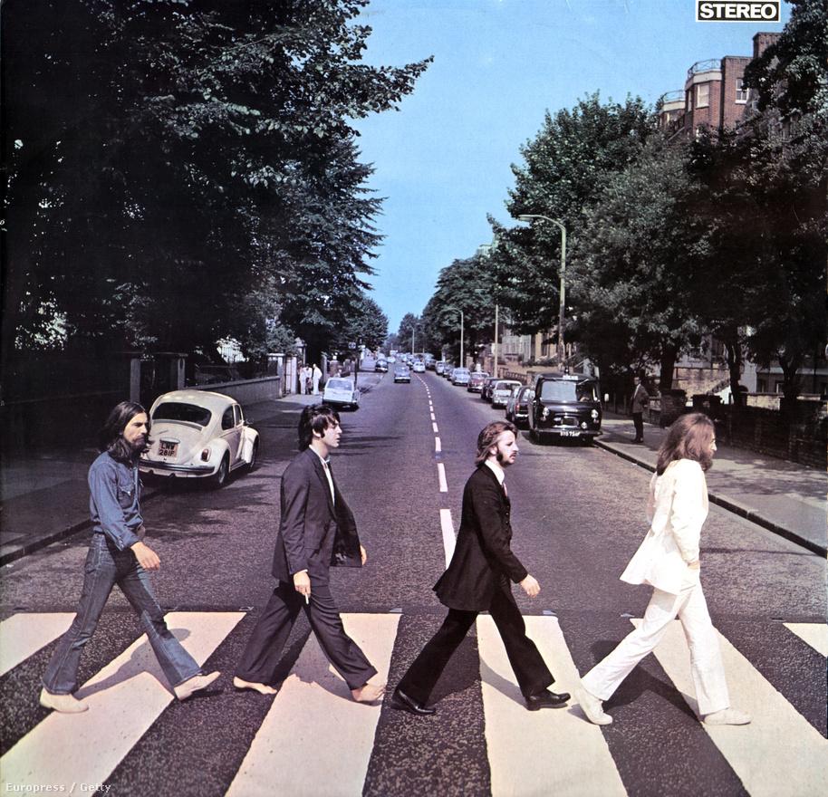 Az 1969-ben kiadott Abbey Road lemez legendás borítója, ami természetesen a londoni Abbey Roadon készült. Ezt az anyagot rögzítette utoljára a Beatles, mégis az ez előtt felvett Let It Be lett az utolsó Beatles-album. Ehhez a borítóhoz tartozik legszorosabban az a hoax is, hogy Paul McCartney már jóval korábban, egy autóbalesetben meghalt, és azóta egy dublőr helyettesíti. Többek között a képen ezért is sétál mezítláb, mert a halottak így mennek át a túlvilágra.