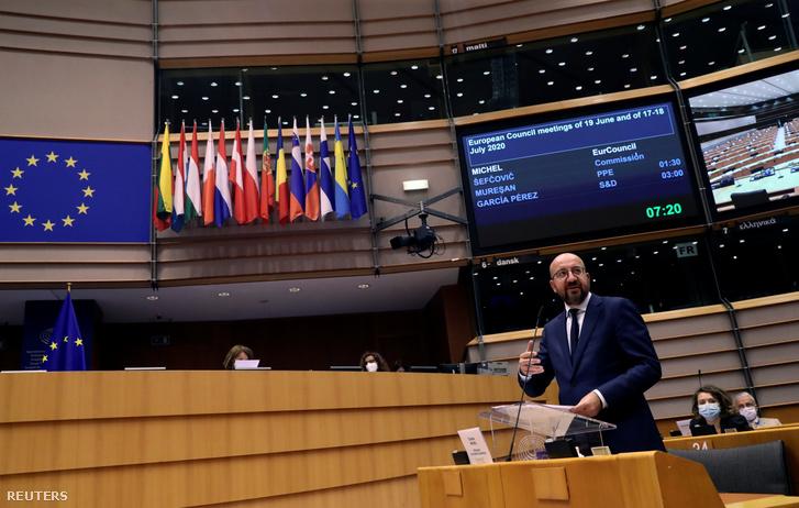 Charles Michel az Európai Parlament szerdai vitáján