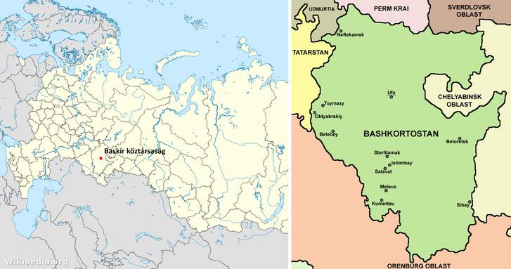 Baskíria térképe