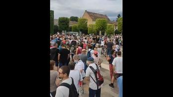 Az Öreg-tó partjára tervezett luxusszálloda ellen tüntettek Tatán