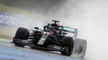 Hamilton nyerte az esőáztatta Stájer Nagydíj időmérőjét