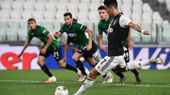 Ronaldo 90. perces 11-esével mentett pontot a Juventus