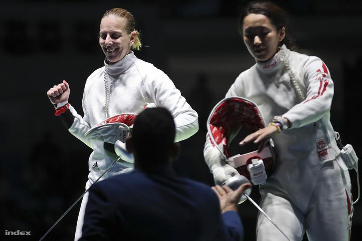 Szász Emese és Szun-Jiven a 2016-os olimpián