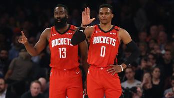 NBA-rájátszás: Harden és Westbrook egyelőre nem utazott el Orlandóba