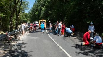 Tömegbaleset egy magyar kerékpáros versenyen