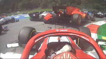 3 kanyarig tartott a Ferrari versenye, Leclerc letarolta Vettelt