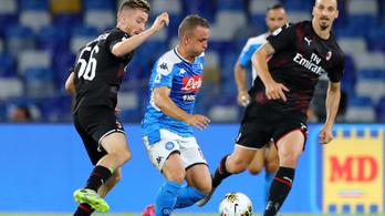 Döntetlen lett a Napoli-AC Milan rangadó
