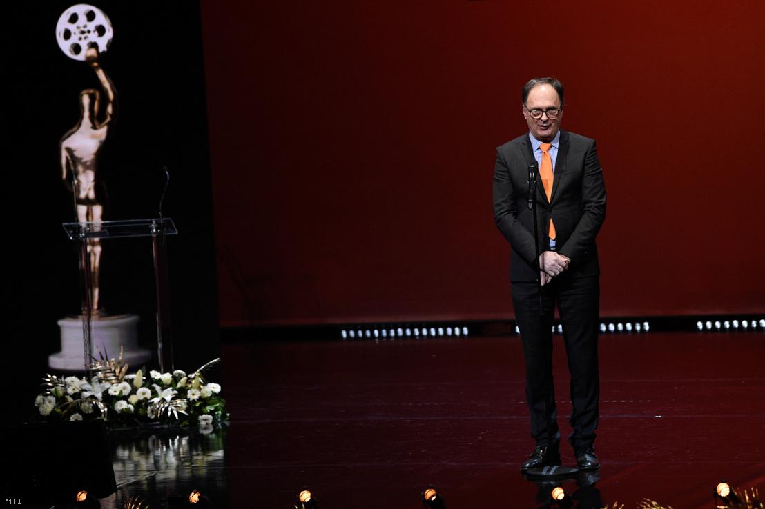 Káel Csaba az 5. Magyar Filmdíj gálán a Vígszínházban 2020. március 5-én