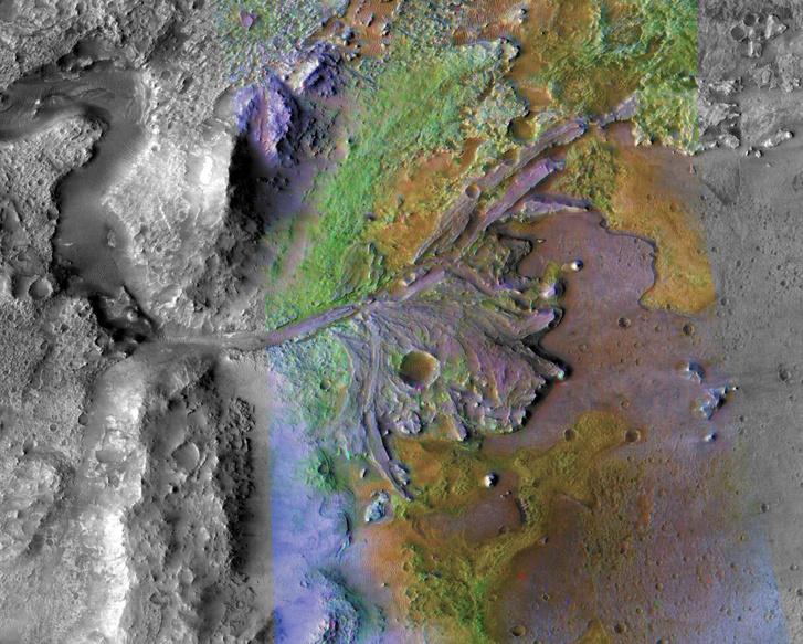 A Jezero-kráterben 3,6 milliárd éves geológiai formációk is találhatóak.