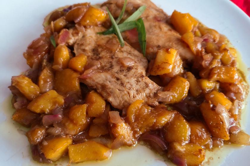 barackos csirkemell recept