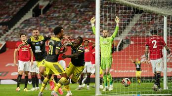 A 96. percben kapott gólt, nagy esélyt szalasztott el a Manchester United