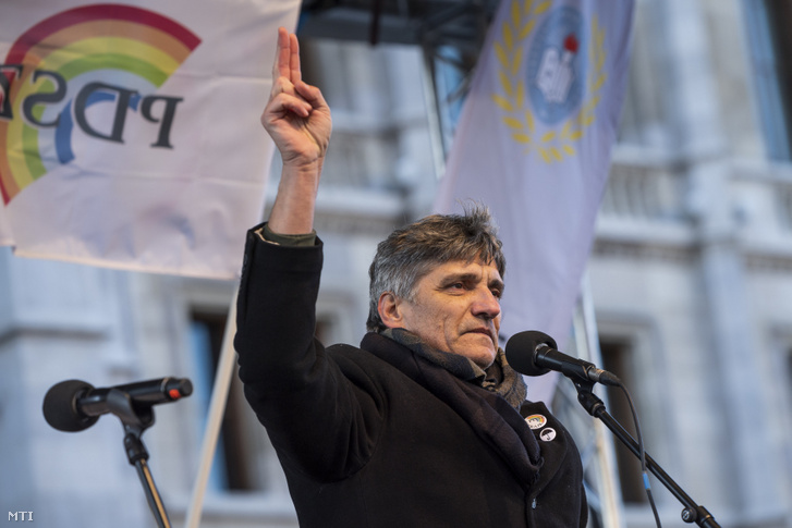 Szűcs Tamás, a Pedagógusok Demokratikus Szakszervezetének elnöke
