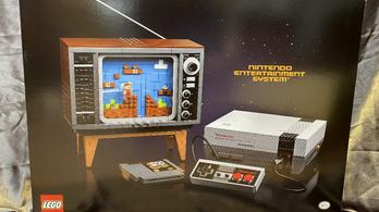 Jön a legóból készült Nintendo konzol, régi tévéstül, kazettástul