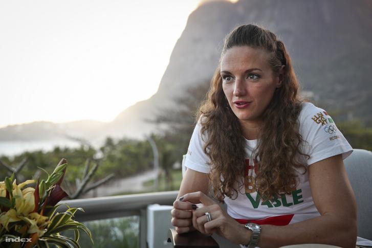Hosszú Katinka Rióban készített interjúnk közben