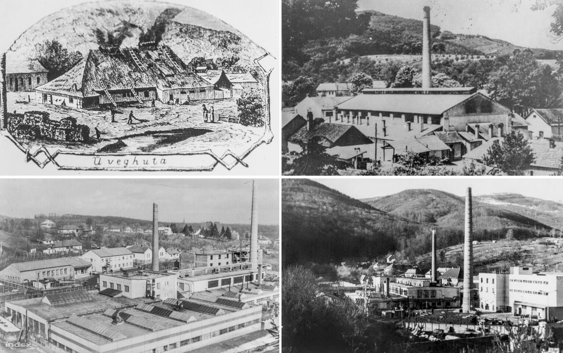 A parádsasvári üveggyártás négy stációja (1868, 1930, 1968 és 1973)