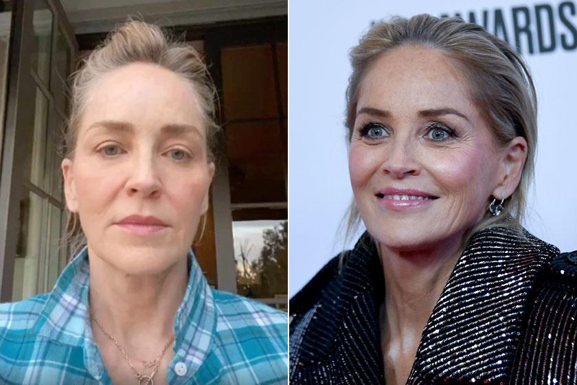 Szinte egy ránc sincs Sharon Stone arcán, pedig már elmúlt hatvan.