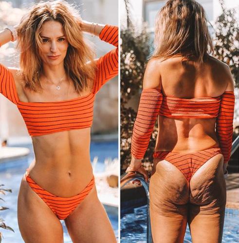 Danae Mercer azt mutatja meg, hogyan trükköznek sokan az Instagramon a tökéletes testért. Ennyit számít egy előnyös póz vagy egy jó megvilágítás.