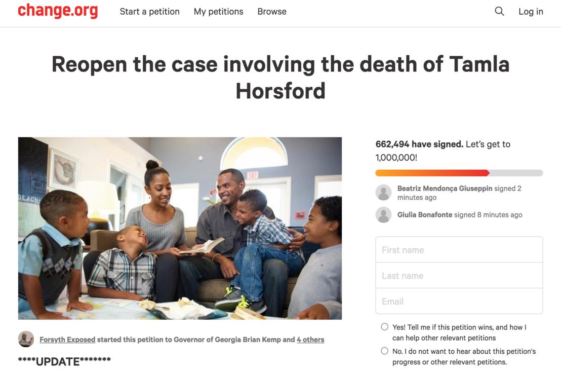 Az akta újranyitásáért indított change.org-os petíció