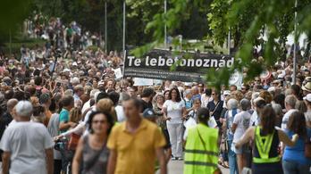 A tatai tüntetők azt állítják, ők civilek, de nem ostobák