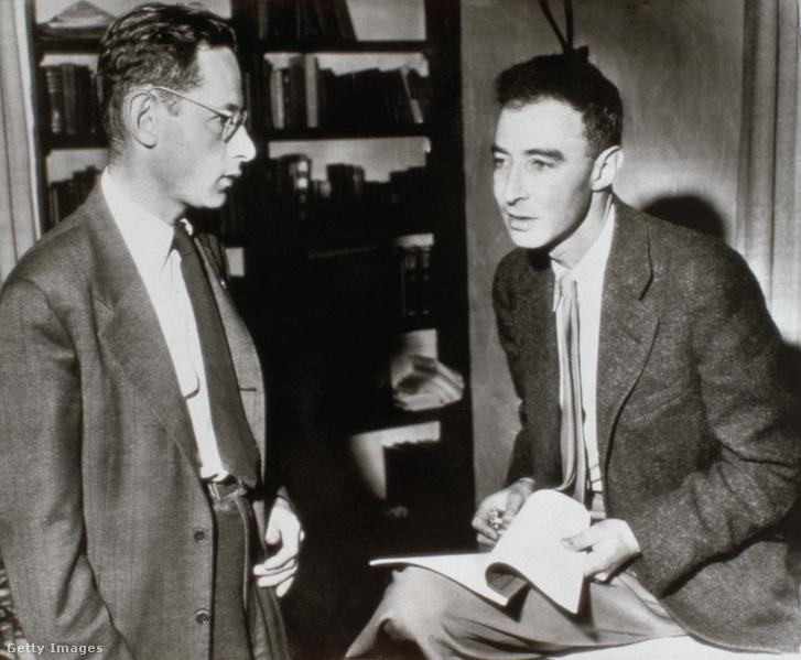 Oppenheimer és Serber a berkley-i egyetemen