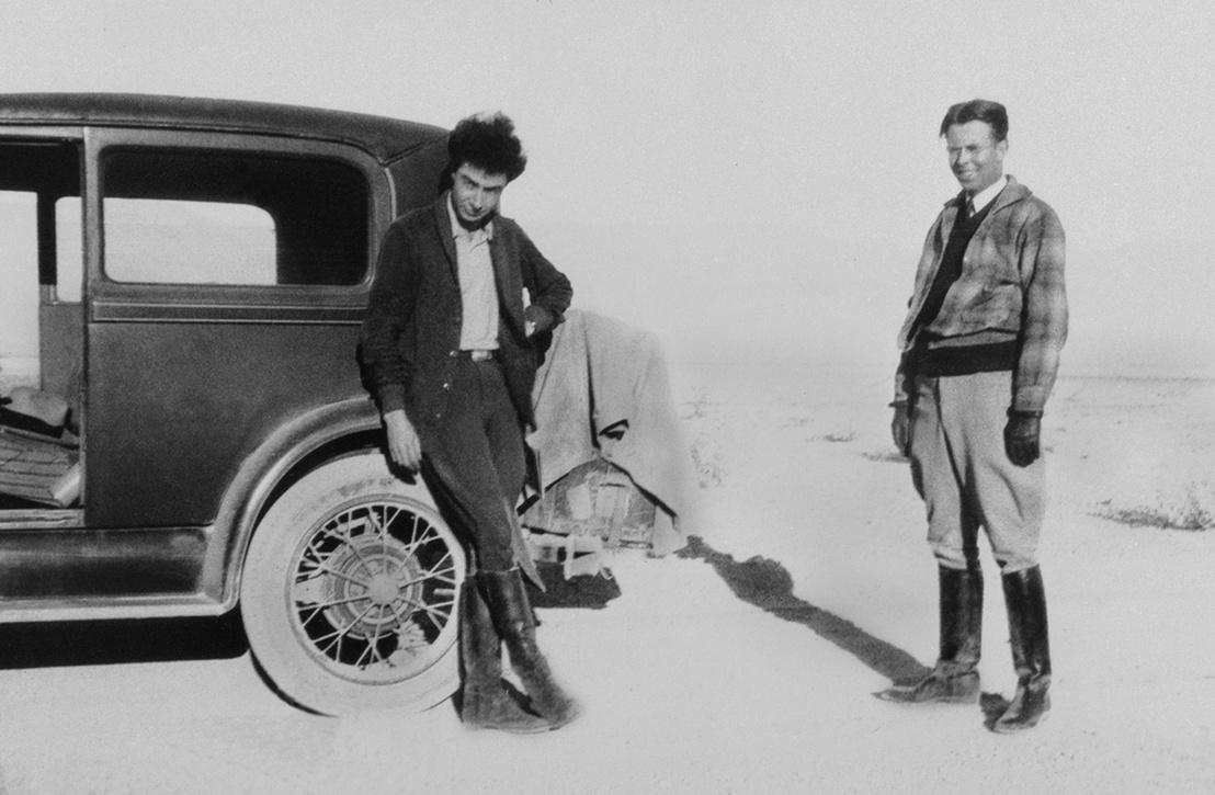 Robert Oppenheimer és Ernest Lawrence aki később színtén a Manhattan-projektben a 30-as évek környékén