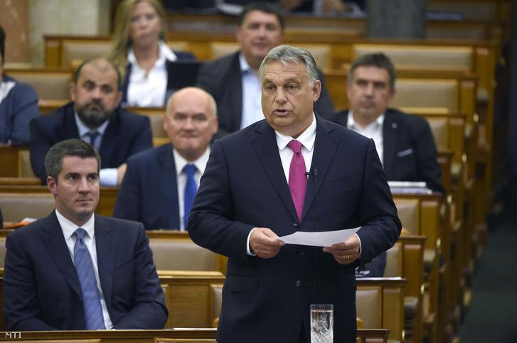 Orbán Viktor az Országgyűlés plenáris ülésén 2020. június 29-én