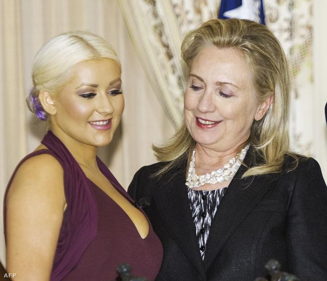Aguilera és Clinton