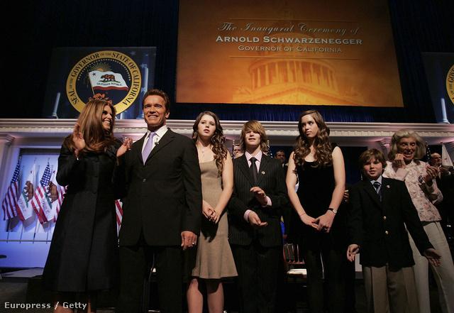 Maria Shriver, Arnold Schwarzenegger, Katherine Schwarzenegger, Patrick Schwarzenegger, Christina Schwarzenegger és Christopher Schwarzenegger