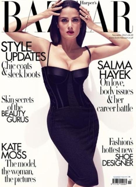 A Harper's Bazaar 2012 novemberi címlapja.