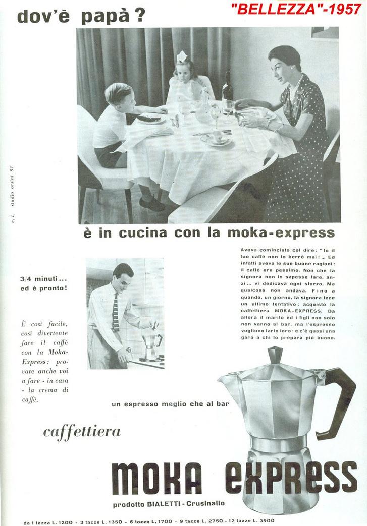 1957-es Bialetti-reklám