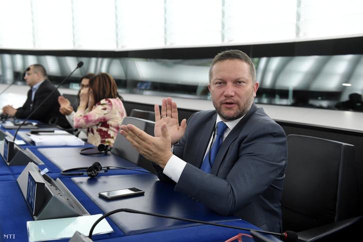 Ujhelyi István MSZP-s képviselő az Európai Parlament plenáris ülésén Strasbourgban 2019. július 16-án.