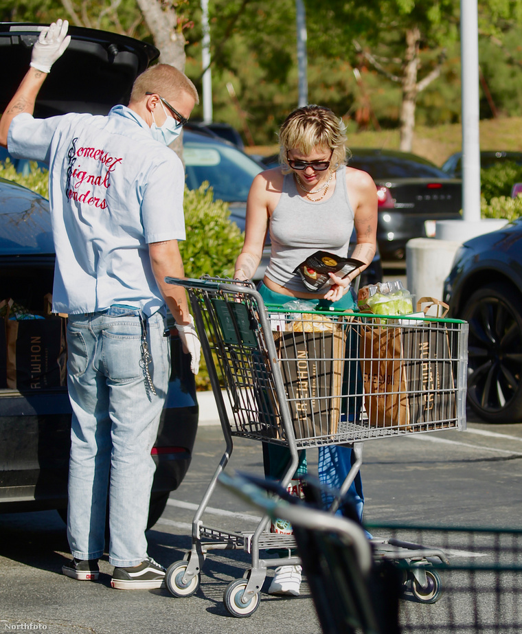 Simpson és Cyrus egy nagybevásárlás végén, idén májusban.