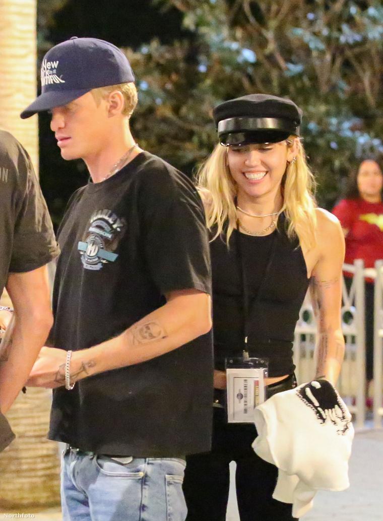 Simpson és Cyrus tavaly októberben