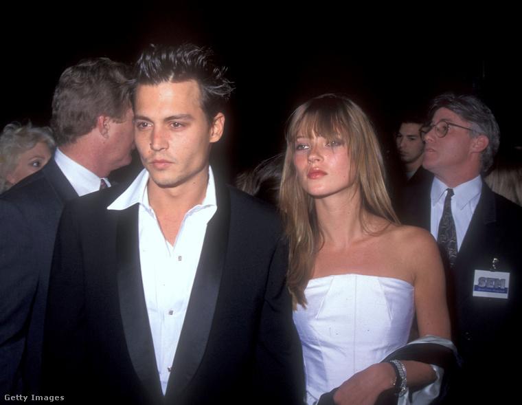 1994-ben jött is a következő kapcsolat, ez Kate Moss szupermodellel, akit ekkor már egy ideje ismert a nagyközönség, és aki ekkor húsz éves volt