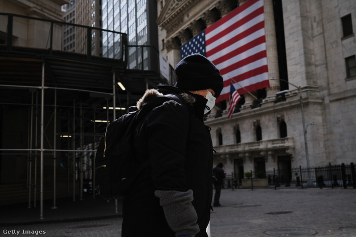 A Wall Street New Yorban 2020. április 20-án.