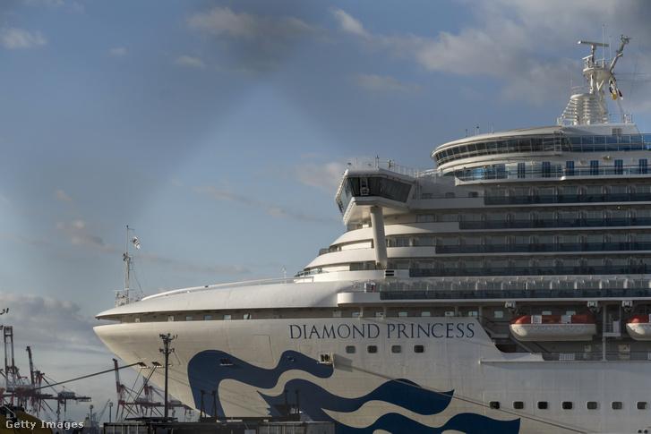 A Diamond Princess 2020. február 19-én.