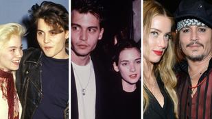 Johnny Depp 1983-tól Amber Heardig egyik kapcsolatból lépett a másikba. Mutatjuk, kikkel