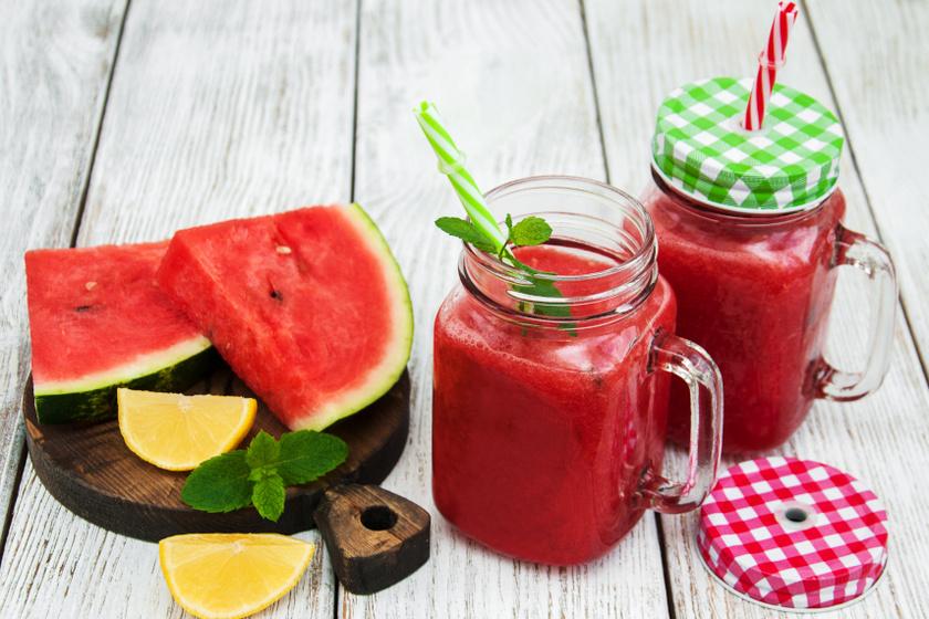 görögdinnye és bazsalikom ital