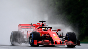 Vettelé a 2. edzés a hungaroringi esőben