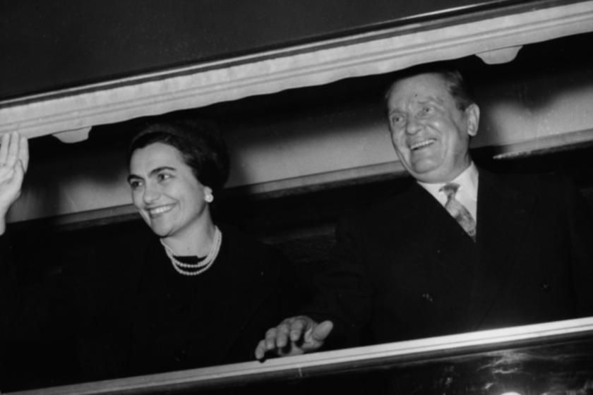 Tito és utolsó felesége, a dekoratív, 32 évvel fiatalabb Jovanka Broz
