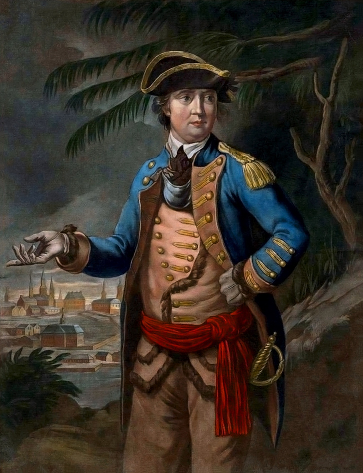 Thomas Hart 1776-os portréja Benedict Arnoldról.