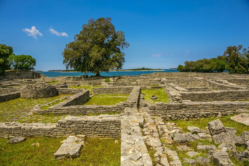 Római romok a Veliki Brijun-szigeten