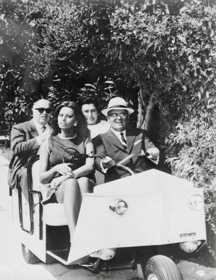 Tito, Sophia Loren, Carlo Ponti és Jovanka Brijunin
