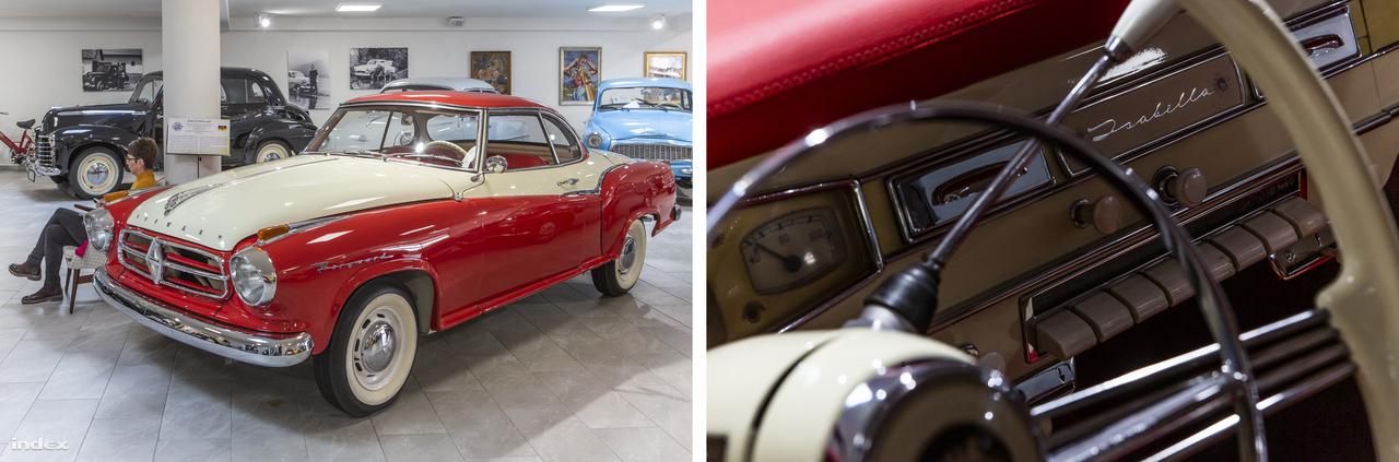 Na, ilyen személygépkocsit se nagyon lehet ma Magyarországon látni: a Borgward Isabella kupét a Carl F. W. Borgward GmbH gyártotta 1954 és 1962 között Brémában. Az 1961-ben becsődölt, mára javarészt elfeledett német márka a maga idejében egész népszerű volt, az Isabella különféle változataiból több mint kétszázezer gördült ki a gyárkapun.