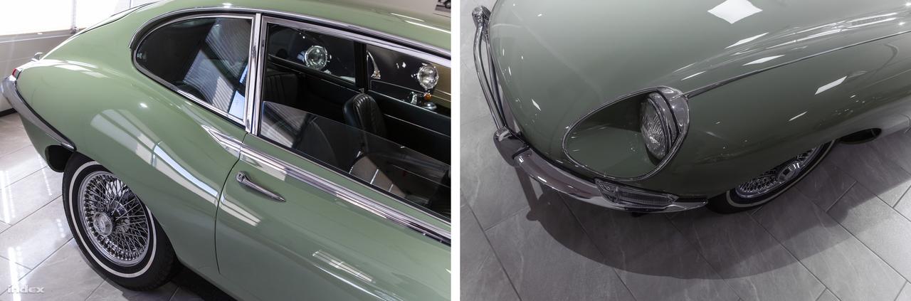 Van ugyan a fölső képen egy 1961-es Porsche 356B félisten, meg egy 1971-es Citroën DS21 istennő is, de ez a pasztellpisztácia színű brit klasszikus elhomályosítja szépségüket. De talán nincs is a világon olyan autórajongó, aki ne ismerné el, hogy Anglia ikonikus sportautója, az 1961 és 1975 között gyártott Jaguar E-Type egyike a valaha készült legszebb tárgyaknak. És persze kevesen vitatkozhatnak azzal is, hogy a három autó így együtt ideális 3-Car Garage-t alkot.