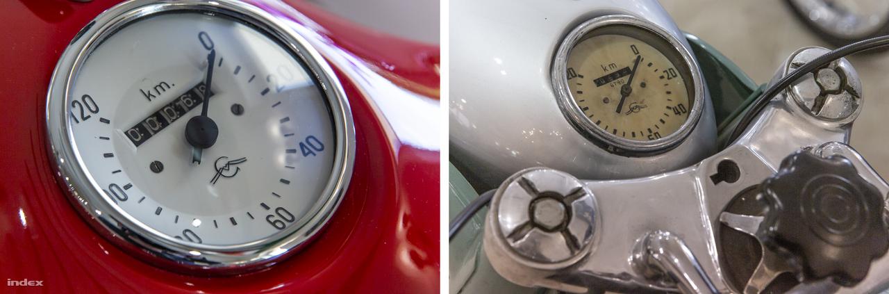 A Csepeli Motorkerékpárgyár Pannónia motorkerékpárjaiból a teljes gyári sorozat (12 típus) megtalálható a múzeumban, és ráadásként még a krosszversenyekre készült MC62-ből is akad. Mint ez a két kilométeróra is mutatja, keveset futott, gyönyörűen felújított és karban tartott járművekről van szó.