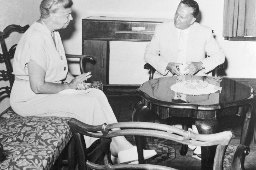 Eleanor Roosevelt és Tito a nyári rezidenciában