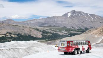 Hárman meghaltak egy kanadai gleccserjáró busz balesetében